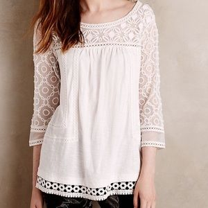 Anthropologie Meadow Rue Lace Mantra Top XS